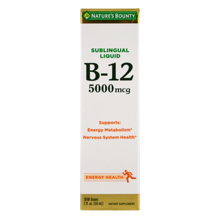 Natures Bounty Super Strength 5000 Mcg B-12 Sublingual Liquid - 2 Oz