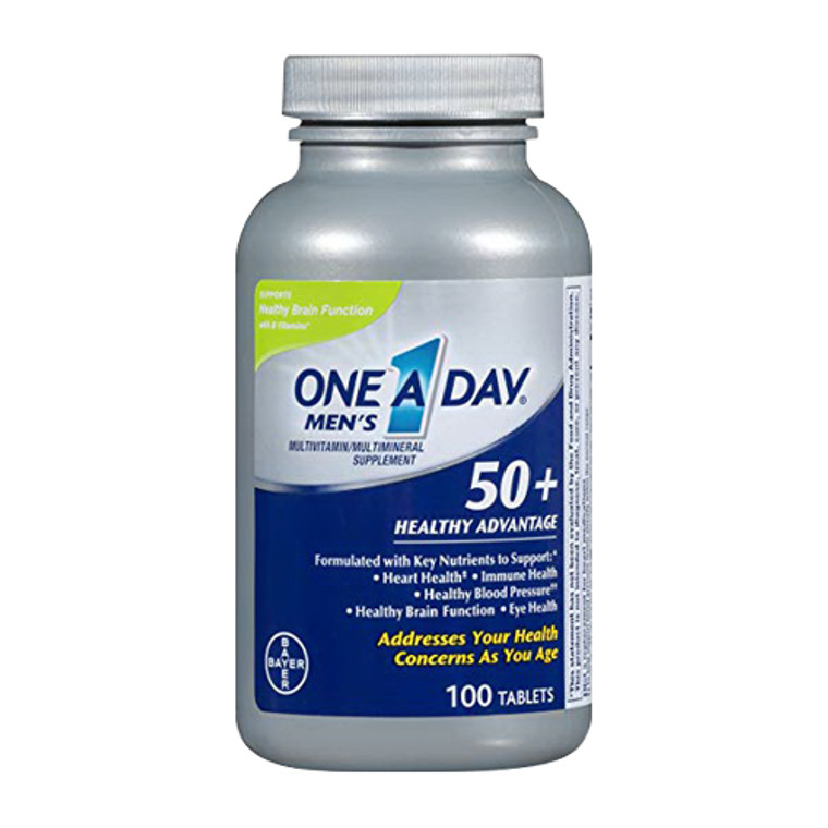 One A Day Mens 50 Plus Healthy Advantage Multivitamin Tablets, 100 Ea