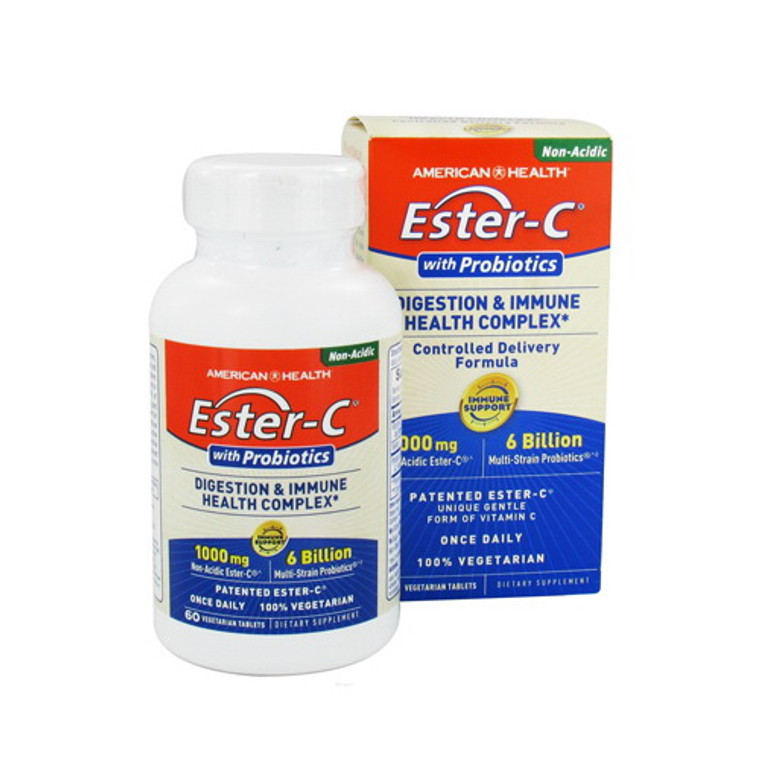 American Health Ecter-C With Probiotics 1000Mg Tablets - 60 Ea