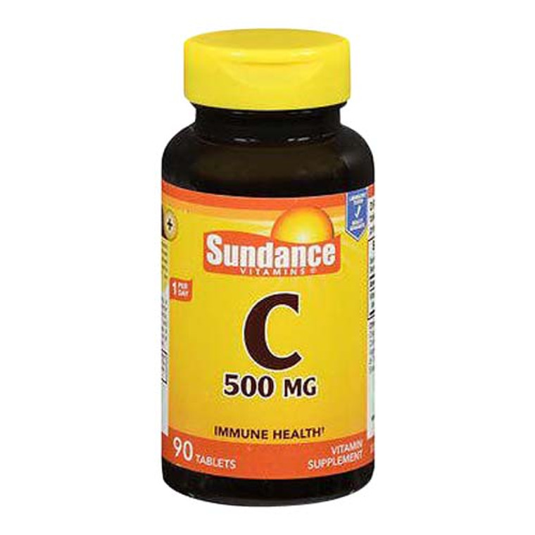 Sundance Vitamin C 500 Mg Immune Health Tablets, 90 Ea