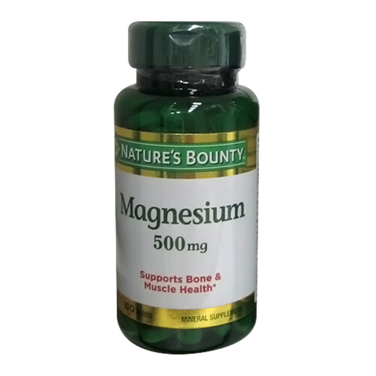 Natures Bounty Generic Magnesium High Potency 500 Mg Tablets - 100 Ea