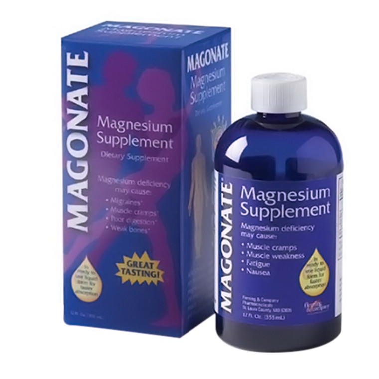 Magonate Magnesium Supplement Liquid - 12 Oz