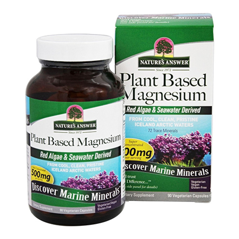 Natures Answer Plant Based 500 mg Magnesium Capsules , 90 Ea