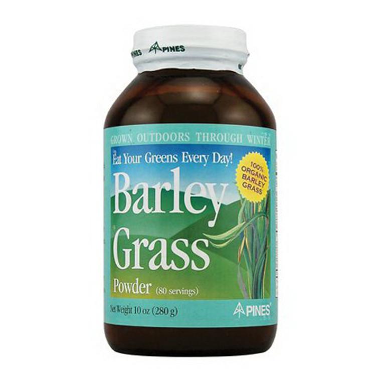 Pines International Barley Grass Powder 100% Organic, 10 Oz