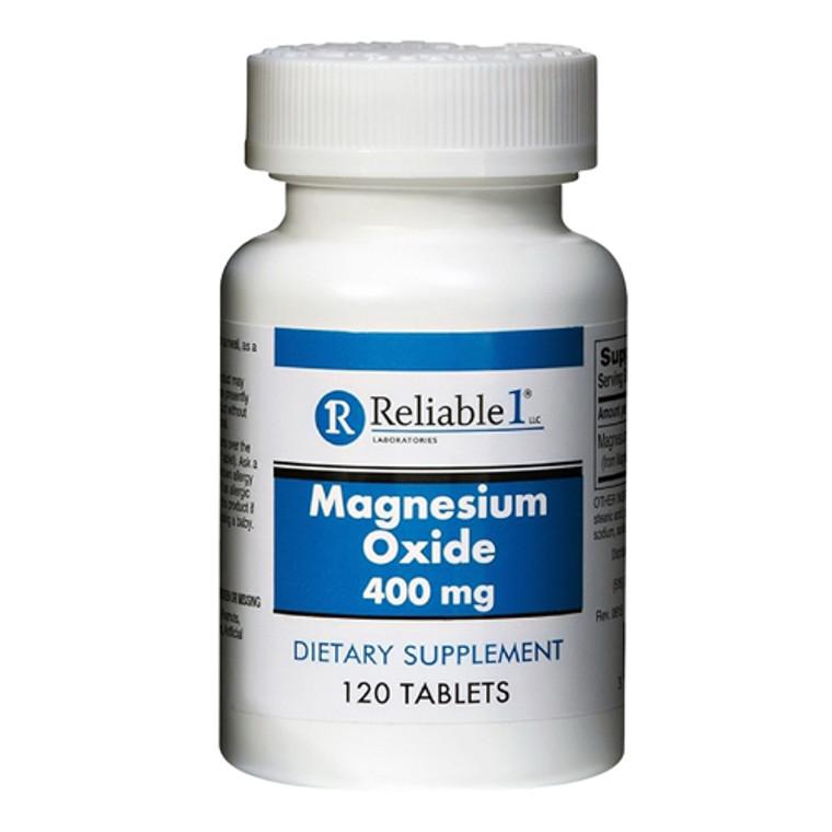 Reliable 1 Magnesium Oxide 400 mg Tablets, 120 Ea