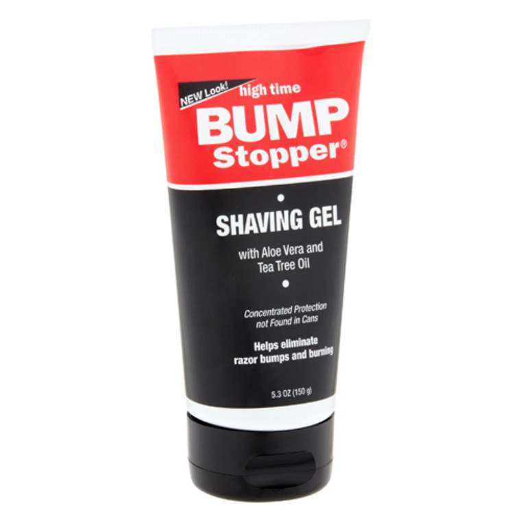 High Time Bump Stopper Shave Gel With Aloe Vera And Tea Tree Oil, 5.3 Oz