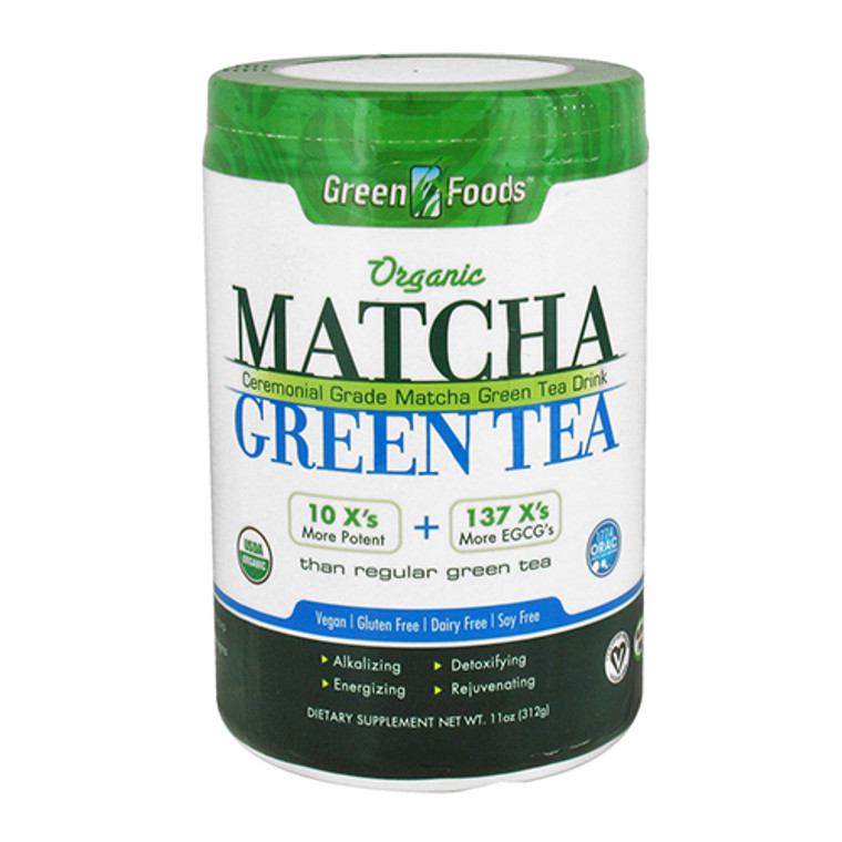 Green Foods Organic Matcha Green Tea Drink, Vegan - 11 oz