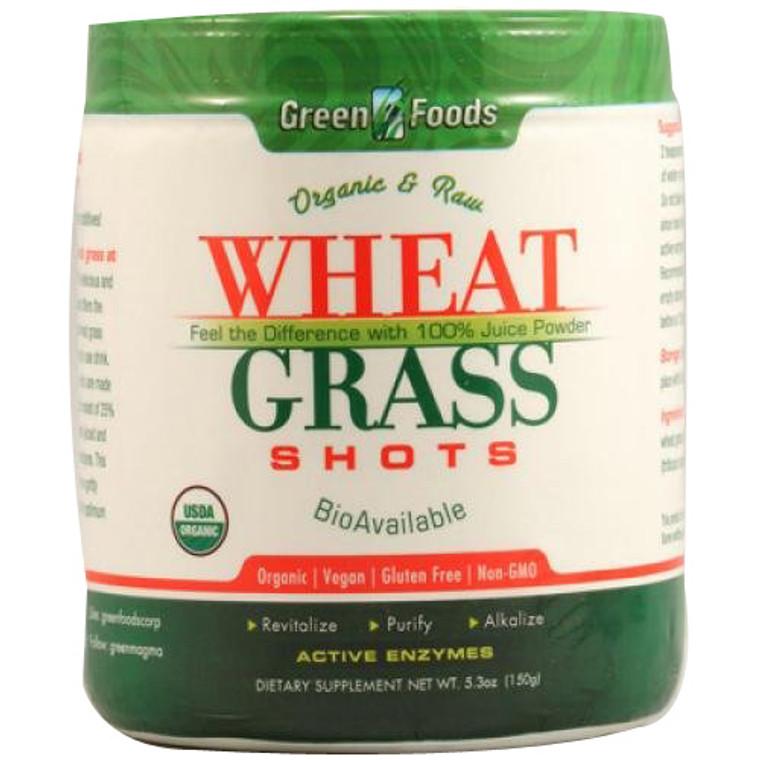 Green Foods Wheat Grass Powder Drink Mix - 5.3 Oz