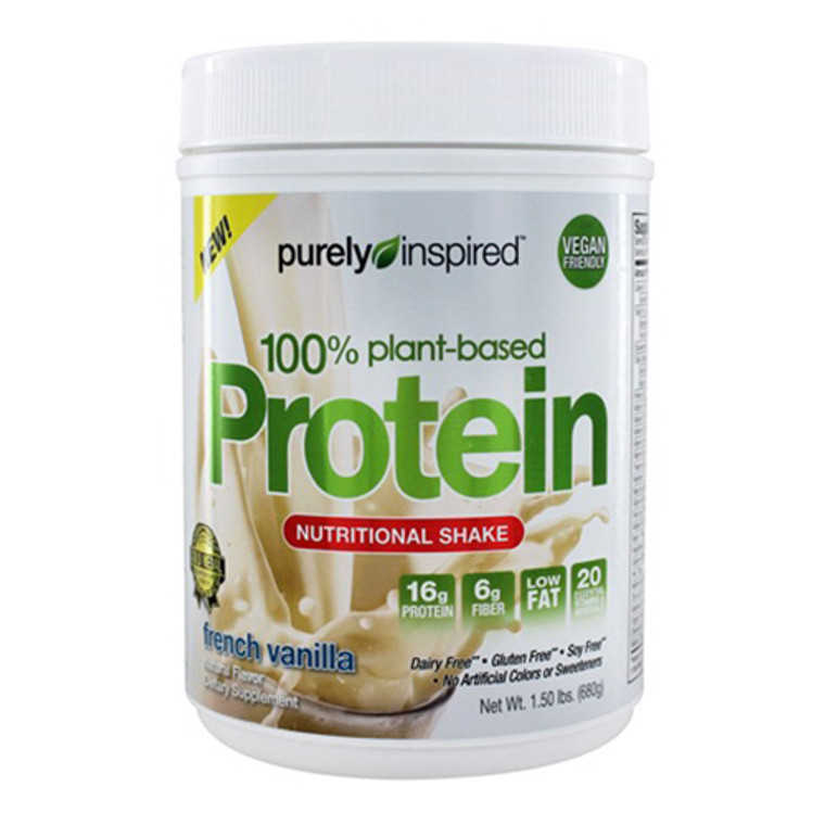 Purely Inspired 100% Plant Based Protein Nutritional Shake, Fresh Vanilla, 1.5 lbs