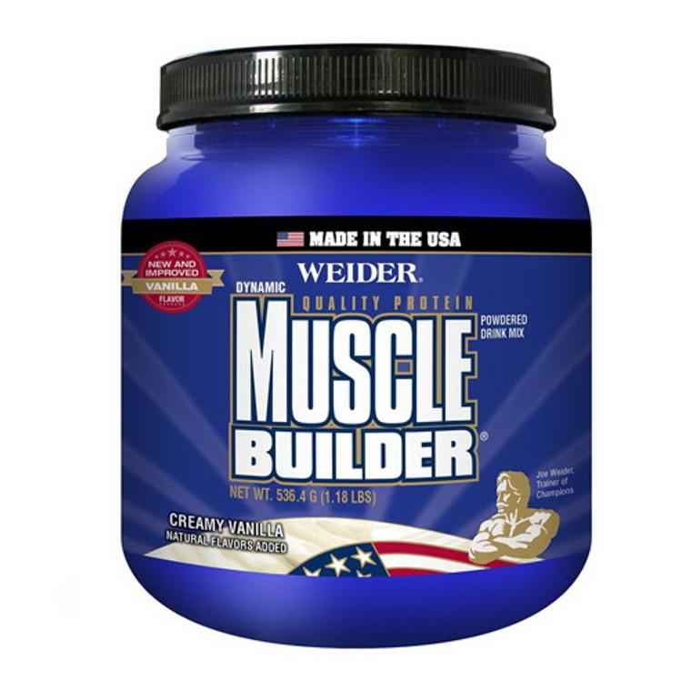Weider Nutrition Muscle Builder Dynamic Powder Creamy Vanilla 1.18 Lb