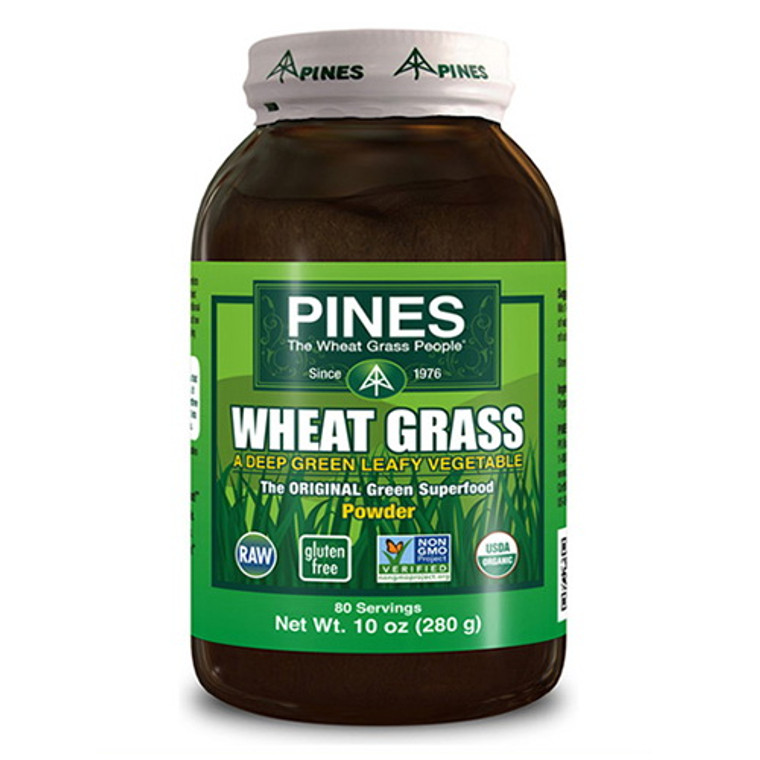 Pines Wheat Grass Powder 100% Pure, Original Green Super Food - 10 Oz, 80 Servings
