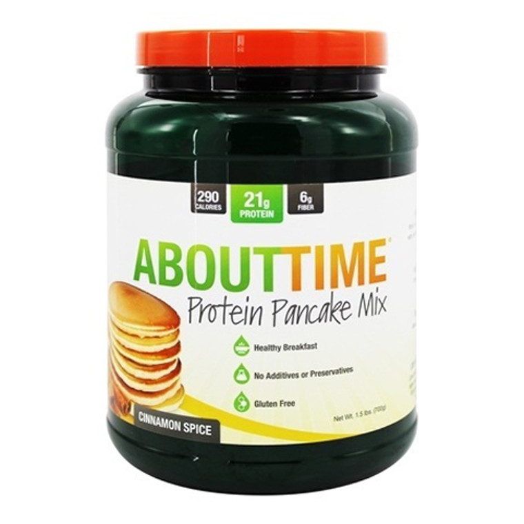 About Time Protein Pancake Mix Cinnamon Spice, 1.5 Lb
