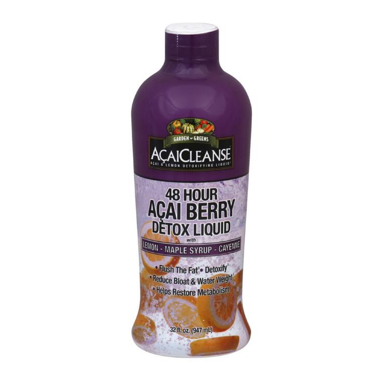 Acaicleanse 48 Hours Acai Berry Detox Liquid With Lemon - 32 Oz