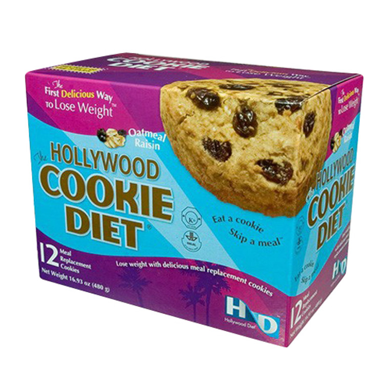 The Hollywood Cookie Diet Meal Replacement Cookies, Oatmeal Raisin, 12 Ea