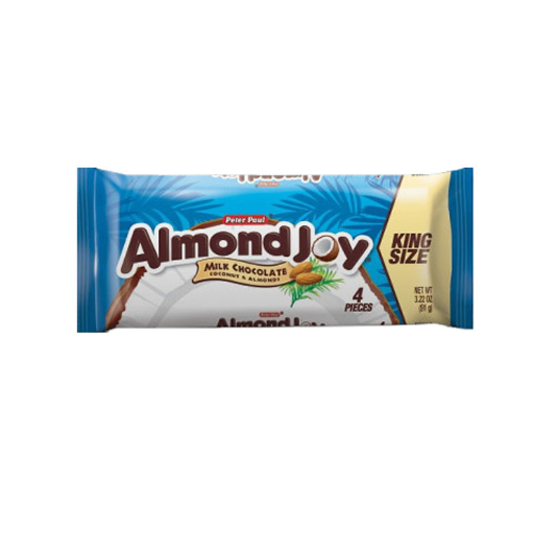 Hersheys Almondjoy Milk Coconut And Chocolate Bar, King Size - 18 Ea / 3.22 Oz