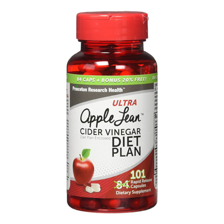 Ultra Apple Lean Cider Vinegar Diet Plan Rapid Release Capsules, 101 Ea