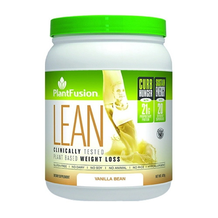 PlantFusion Lean Plant Based Weight Loss Vanilla Bean Protein Supplement Powder, 14.8 Oz