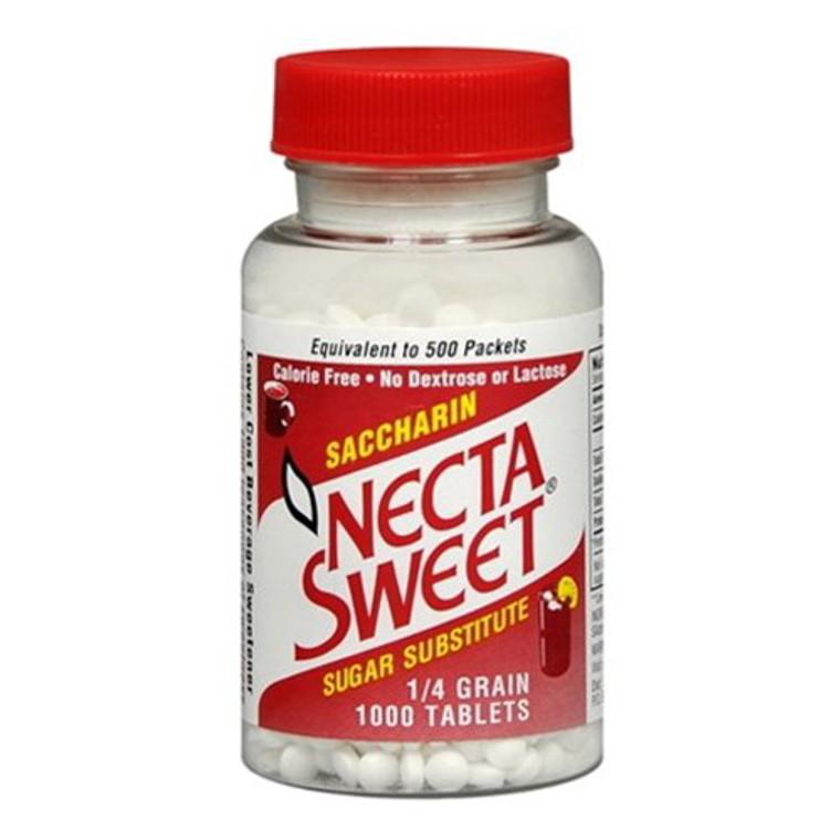 Necta Sweet Saccharin Sugar Substitute 0.25 Grain Tablets - 1000 Each