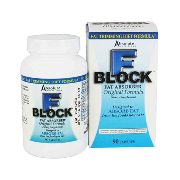 Absolute Nutrition F-Block Fat Absorber Diet Formula Capsules - 90 Ea