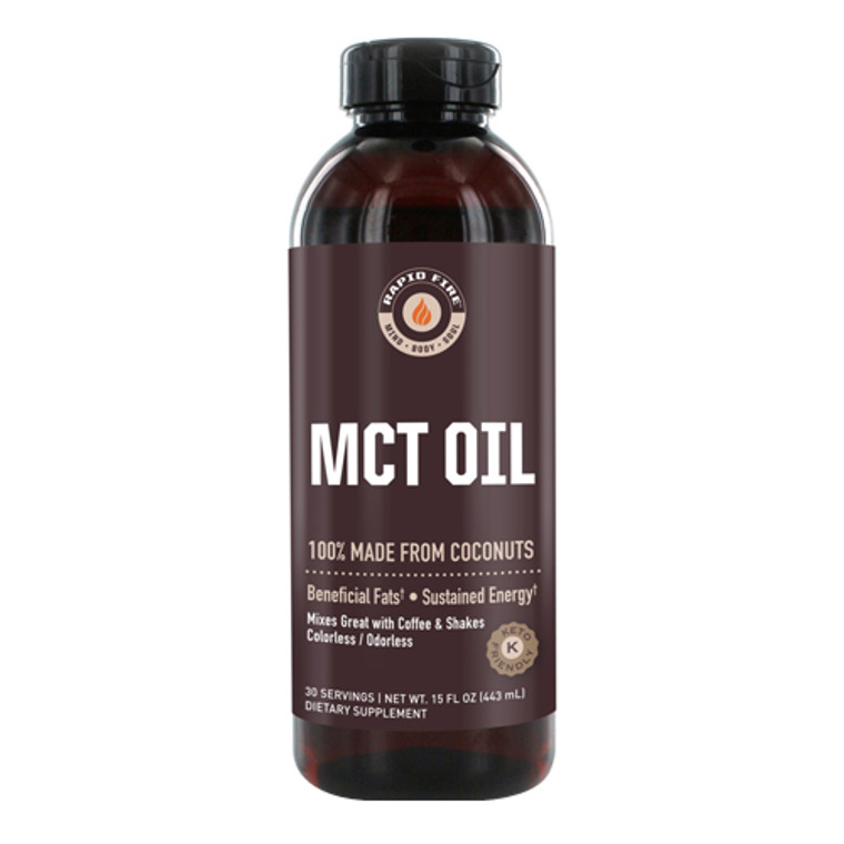 Rapid Fire Mct Oil with Beneficial Fats, Coconuts, 15 Oz