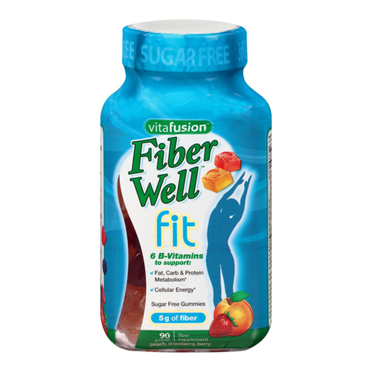 Vitafusion Fiber Well Fit Weight Management Gummies, Fiber Supplement, 90 Ea