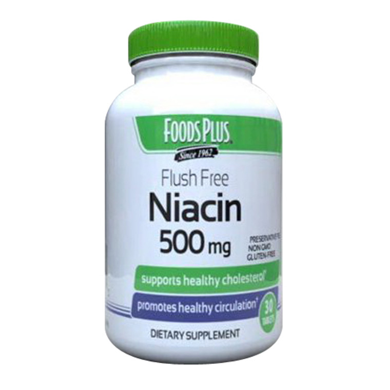 Windmill No Flush Niacin 500 Mg Tablets, 30 Ea