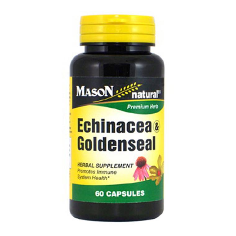 Mason Natural Echinacea And Goldenseal Premium Herbal Supplement Capsules - 60 Ea