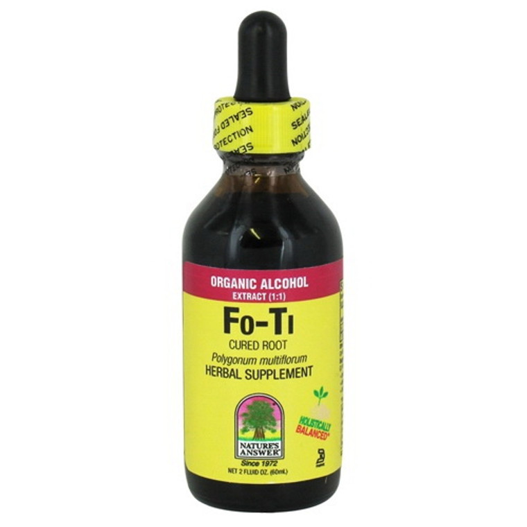 Natures Answer Fo-Ti Cured Root Organic Alcohol Extract - 2 Oz