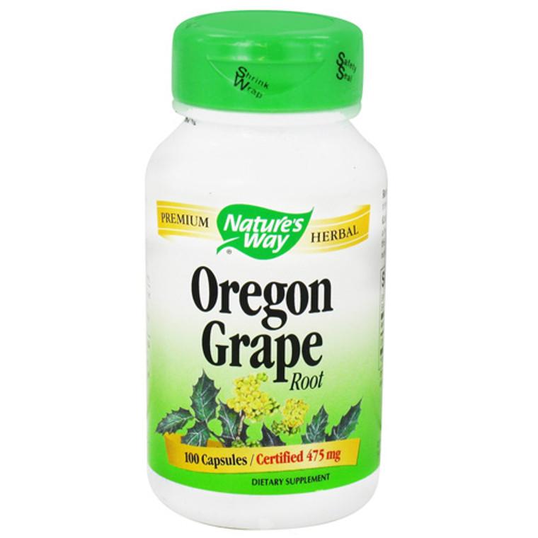 Natures Way Oregon Grape Root 475 Mg. Capsules - 100  Ea