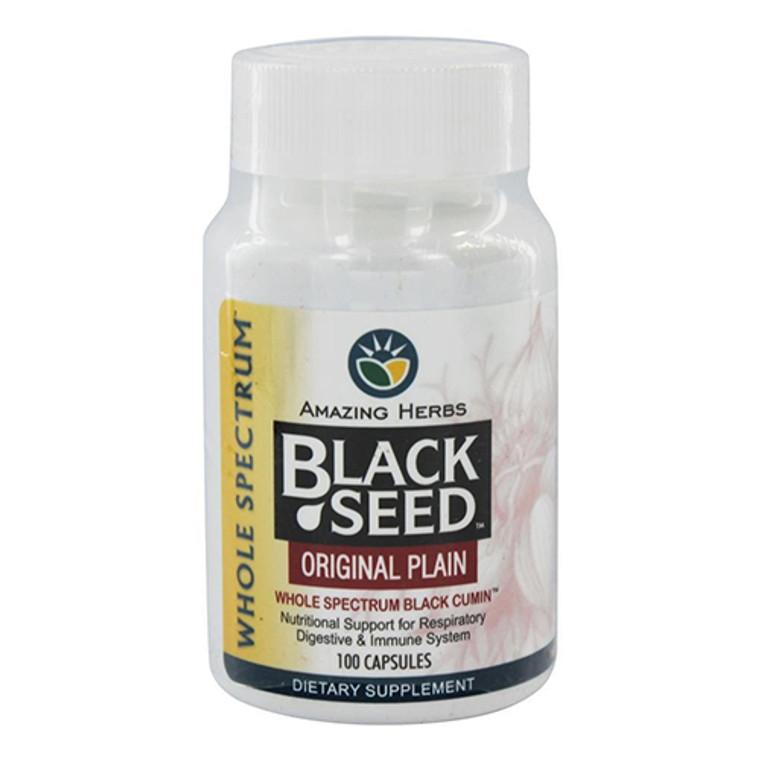 Amazing Herbs Black Seed Original Plain 500 Mg Capsules 100 Ea