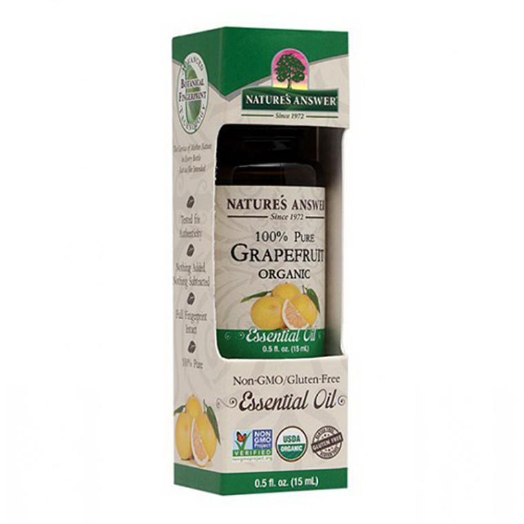 Natures Answer Essential Oil Organic Grapefruit, 0.5 Oz