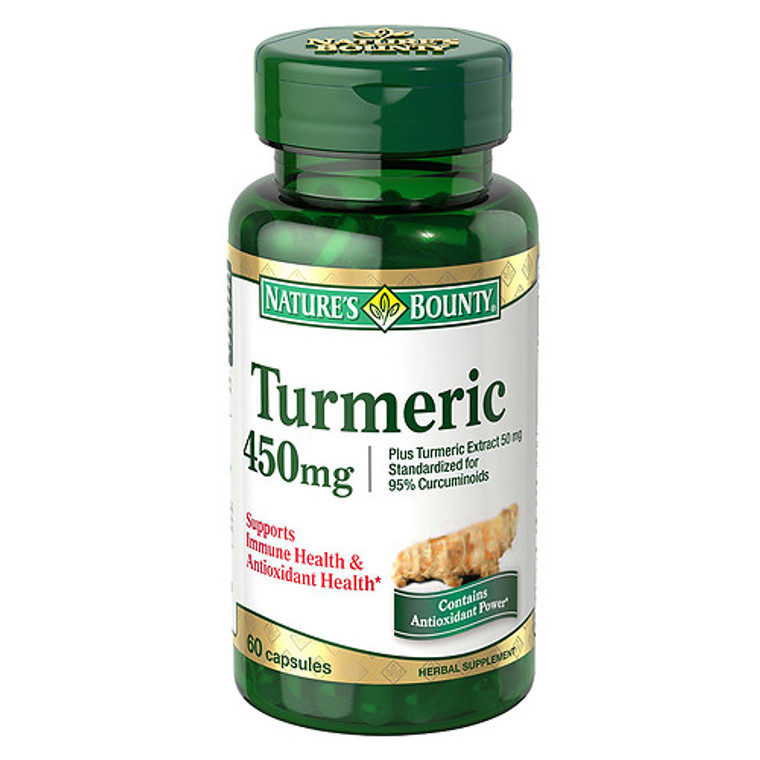 Natures Bounty Turmeric 450 mg Capsules, For Immune Suppport - 60 ea