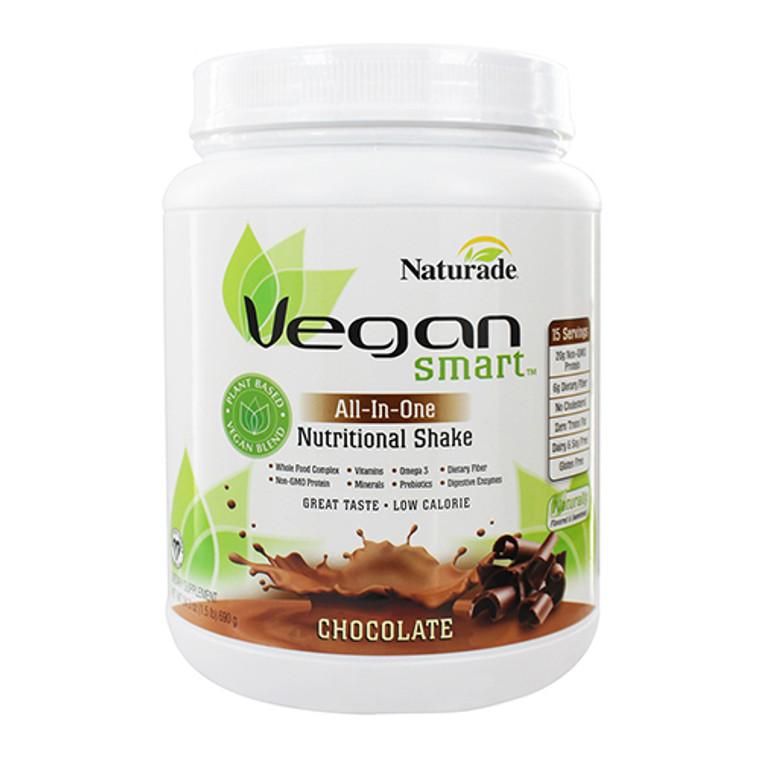 Naturade Vegan Smart All-In-One Nutritional Shake, Chocolate - 24.3 oz