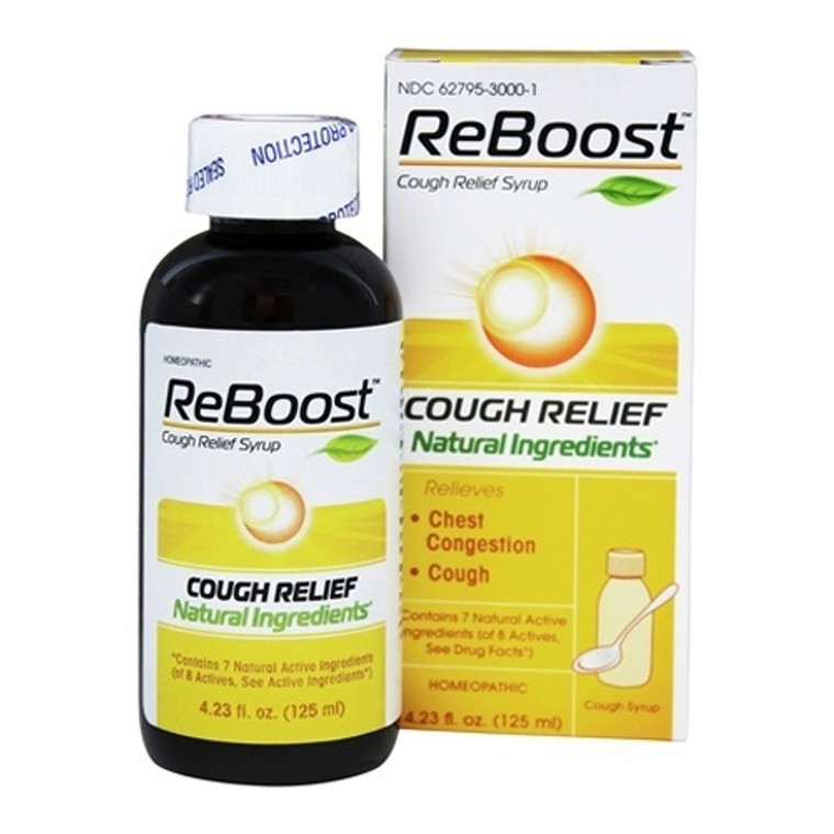 MediNatura ReBoost Cough Relief Homeopathic Syrup, 4.23 Oz