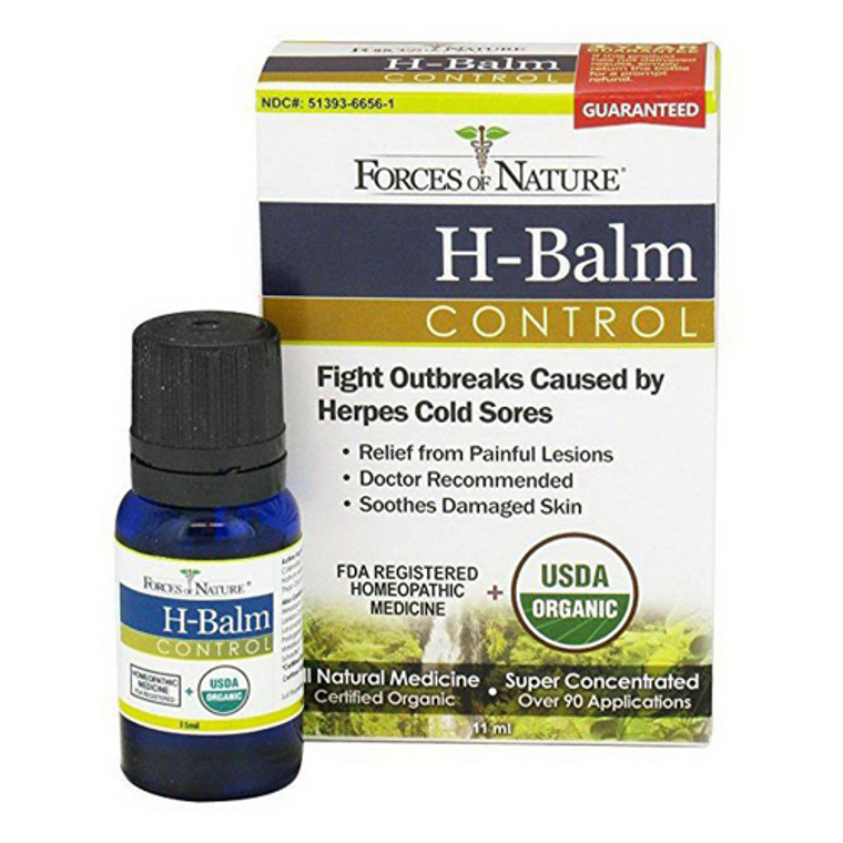 Forces of Nature H-Balm Control, Herpes Cold Sores, Homeopathic, 11 ml