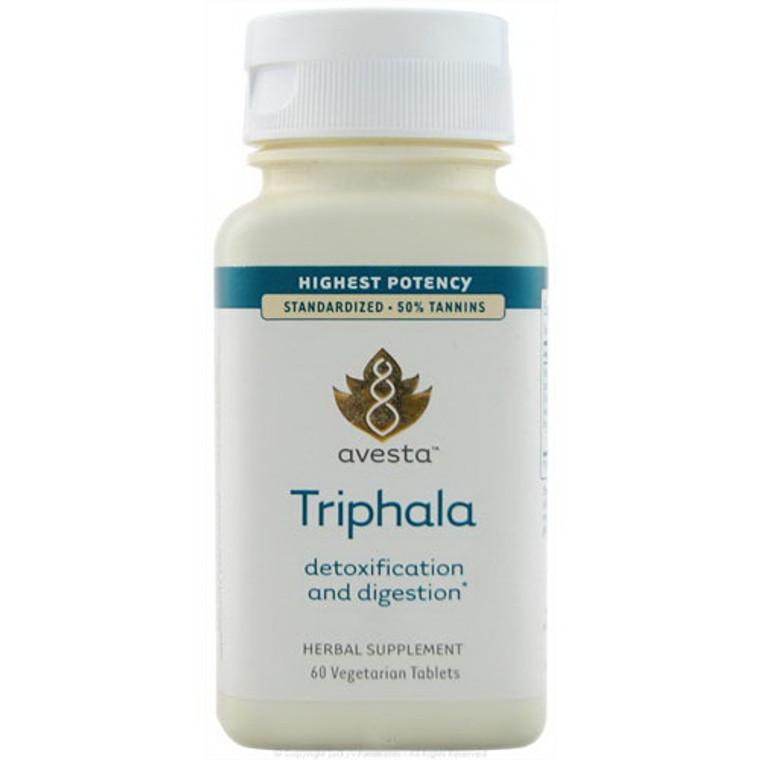 Avesta Triphala Detoxification And Digestion Highest Potency Tablets, 60 Ea