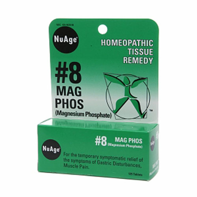 Nuage #8 Mag Phoshomeopathic (Magnesium Phosphate) Tissue Remedy Tablets - 125 Ea