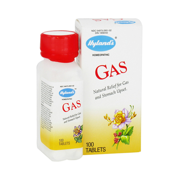 Hylands Natural Gas Relief And Stomach Upset Tablets - 100 Ea