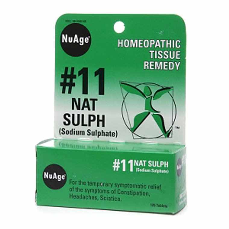 Nuage #11 Nat Sulph (Sodium Sulphate) Homeopathic Tissue Remedy Tablets - 125 Ea
