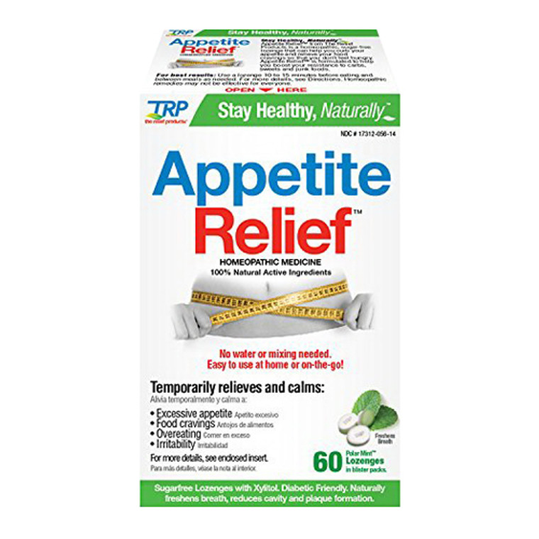 Appetite Relief Homeopathic Medicine No Water Or Mixing Needed 100% Natural Ingredient Lozenges, Polar Mint, 60 Ea