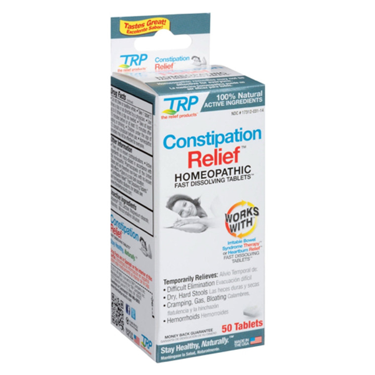 TRP Constipation Relief Homeopathic Fast Dissolving Tablets, 50 Ea