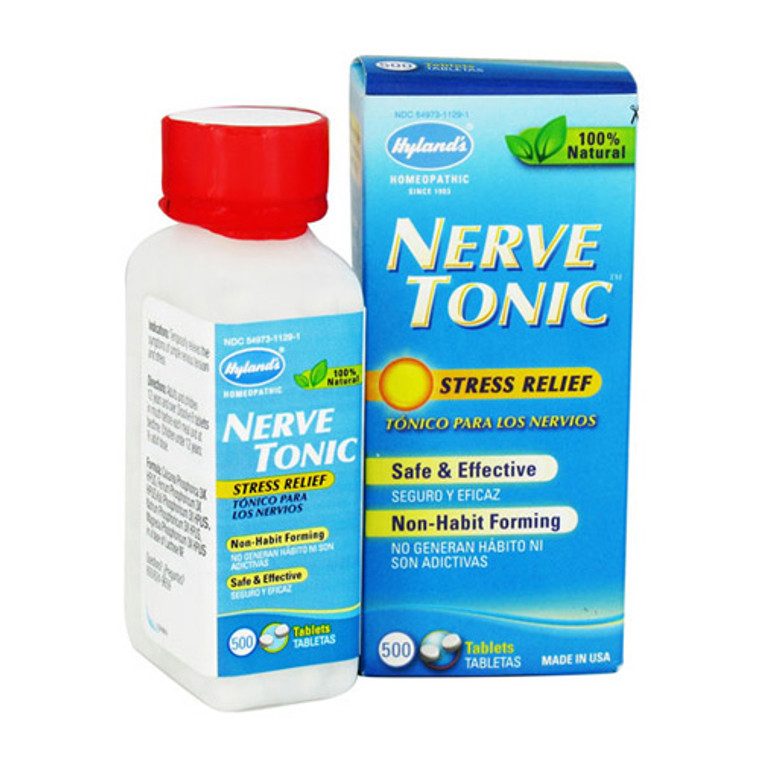 Hylands Homeopathic Nerve Tonic Stress Relief Tablets - 500 Ea