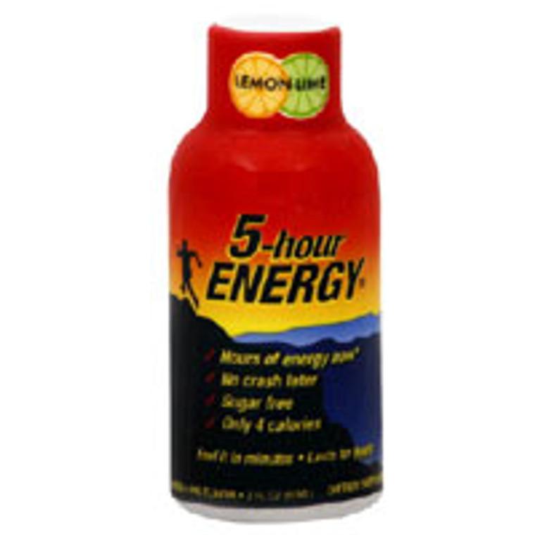 Living Essentials 5-Hour Energy Drink, Lemon-Lime Flavor - 2 Oz/Bottle, 2 Ea