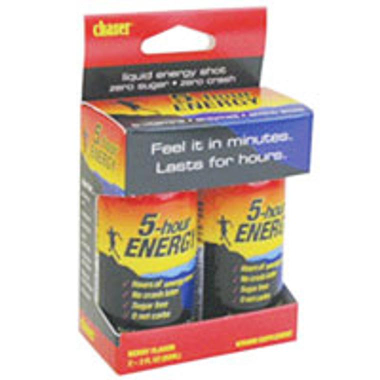 Chasers Energy 5-Hour Energy Drink - 2 Oz/Bottle, 2 Ea