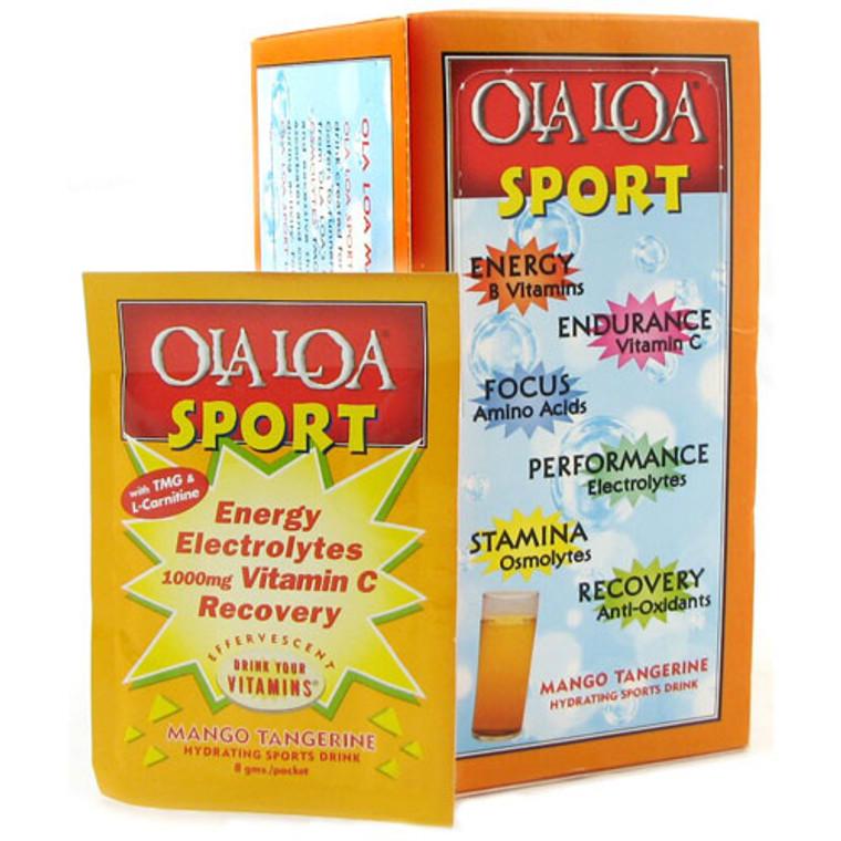 Ola Loa Sport Effervescent Vitamin Drink Mix, Mango Tangerine - 30 Packets