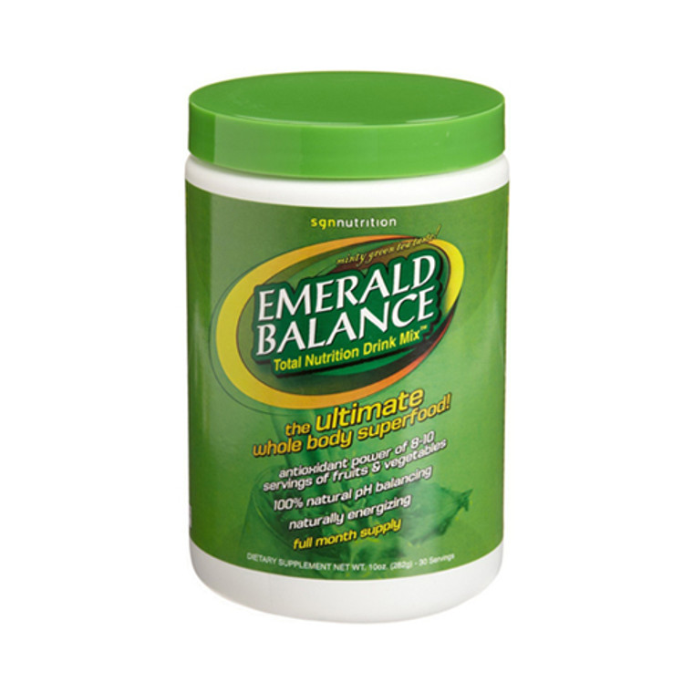 Sgn Nutrition Emerald Balance Drink Mix, 30 Day Canister - 10 Oz