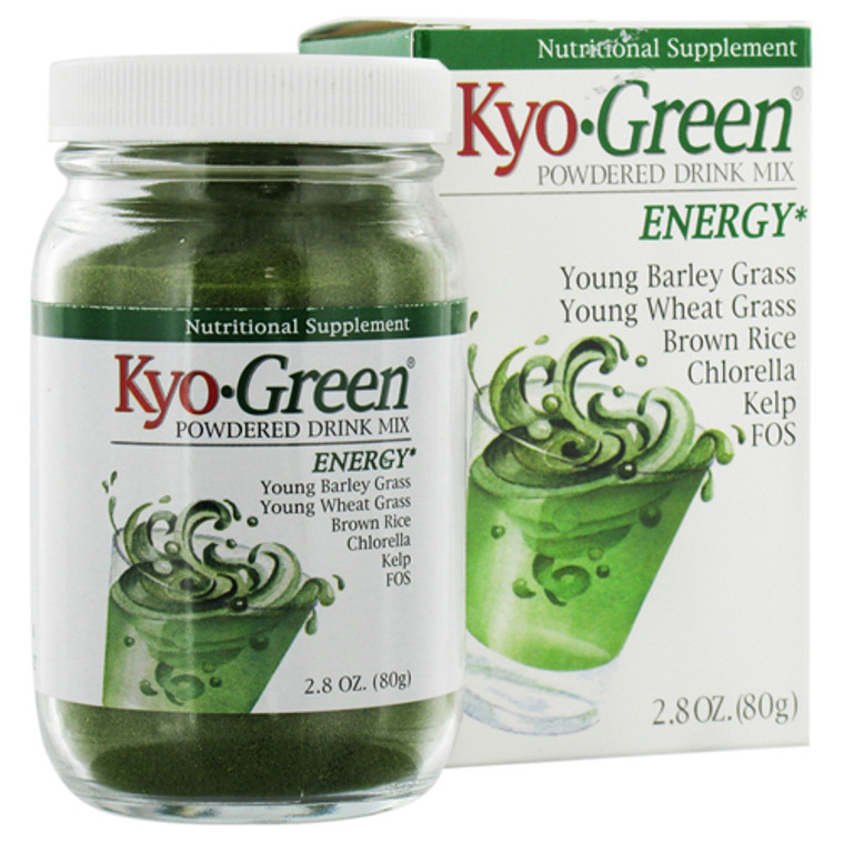 Kyolic Kyo Green Powdered Drink Mix, Energy - 2.8 Oz