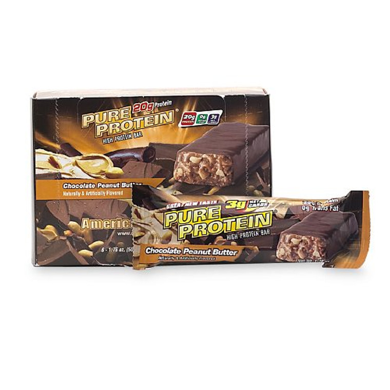 Pure Protein High Protein Bar Chocolate Peanut Butter - 50 Gm, 6 Ea