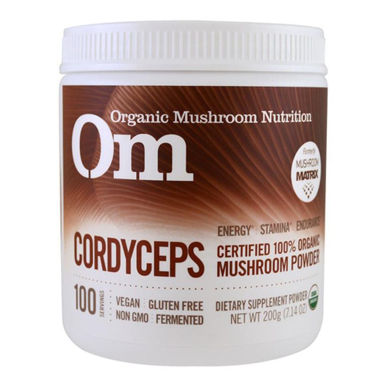 Organic Mushroom Nutrition Cordyceps Mushroom Supplement Powder, 7.14 Oz
