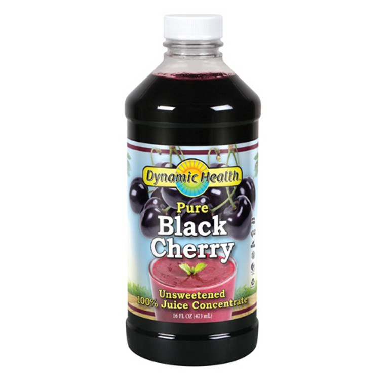 Dynamic Health Pure Black Cherry Concentrate, Unsweetened, 16 Oz